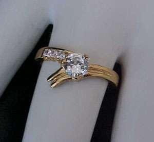 65 carat Brilliant cut ROUND Solitaire cz Gold ep Engagement Wedding