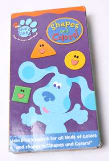 SHAPES AND COLORS  BLUES CLUES VHS TAPE