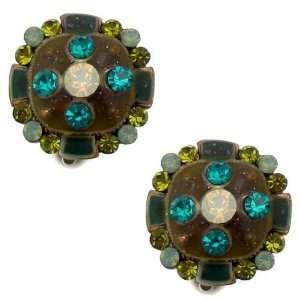 Acosta Jewellery   Blue, Green & Opal Crystal   Vintage Style Enamel