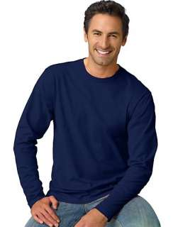 Hanes TAGLESS Nano T Mens Long Sleeve Tee Shirt   style 498L