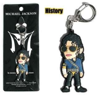 New Michael Jackson MJ History Key Chain Ring Bag Tag