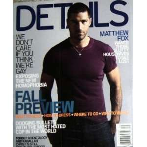 Details Magazine September 2005 Matthew Fox (Single Back Issue) Books