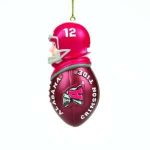 ALABAMA CRIMSON TIDE TACKLER CHRISTMAS ORNAMENTS (4