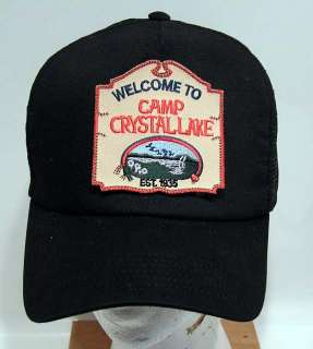 Friday 13th Camp Crystal Lake Baseball Cap/Hat w Patch