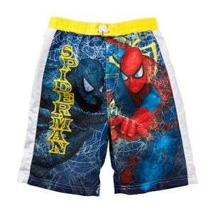 SPIDER MAN MARVEL Boys Bathing Suit Swim Trunks NWT $20