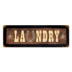 Laundry Vintage Metal Sign Room Country Home & Kitchen