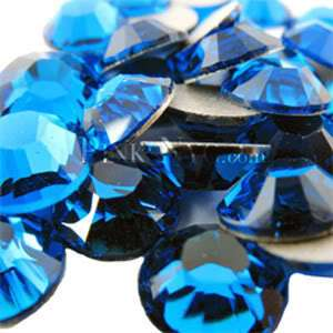 SS16 Capri Blue Swarovski Crystal Flatback Rhinestones