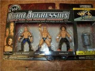 SET OF 3 (3PKS) WWE JAKKS MICRO AGGRESSION 14 FIGURES