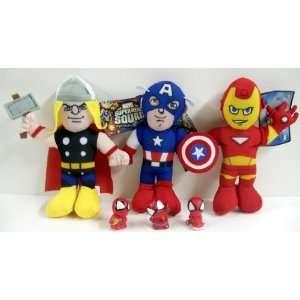 of 3 Marvel Super Hero Squad Avengers Featuring Captain America, Thor