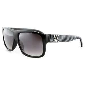 Retro Black & White Wayfarer Sunglasses Flat Top Black Lens XL   Free