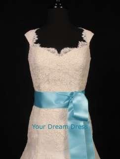Tiffany Blue satin ribbon bridal wedding sash 2 3/4NEW