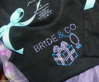Aqua Blue Wedding Bride Bridesmaid Rhinestone Shirt