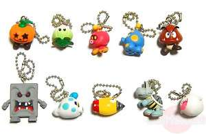 Super Mario Galaxy 2 Enemy Key Chain Figures Nintendo
