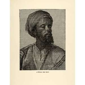 1904 Print Nile Arab Pilot Turban Costume Traditional