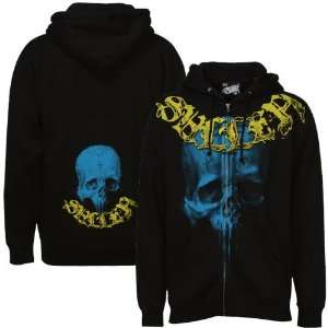 Sullen Black Stained Full Zip Hoody Sweatshirt Sports