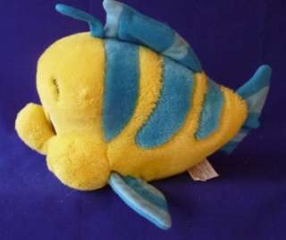 Plush Stuffed Animal Flounder Fish Little Mermaid Walt Disney World