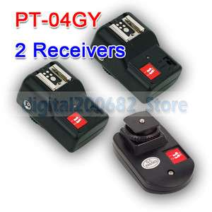 NEW PT 04 GY 4 Channels Wireless/Radio Flash Trigger SET with 2