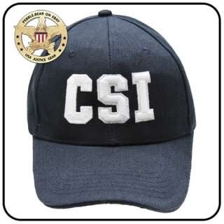 NEW CSI BALL CAP CRIME SCENE INVESTIGATOR USA LAW HAT N