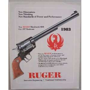 Ruger 1983 fold out [ Sturm, Ruger & Company, Inc