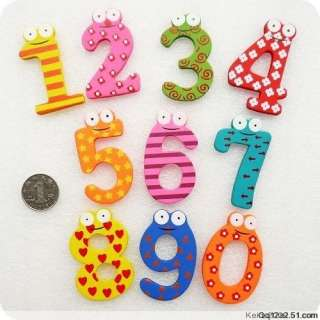 10X colorful Wooden Number baby kids Early Learning Education Magnet
