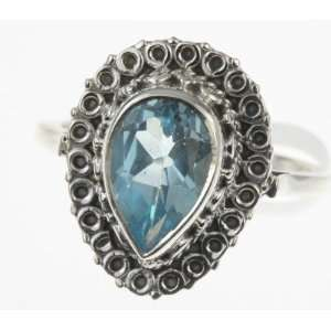 925 Sterling Silver BLUE TOPAZ Ring, Size 9, 5.82g