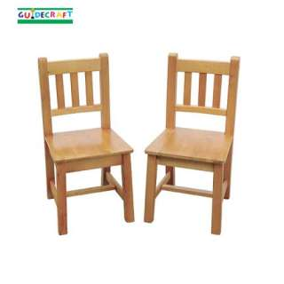 New Wooden Kids Mission Wood Chairs Set of 2 Honey Oak