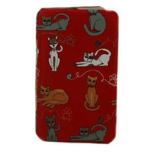 Kristine Accessories Large Kitty Cat Red Flat Wallet