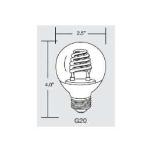 TCP 8G2003CL Clear Cold Cathode Globe Shaped Lamp   3