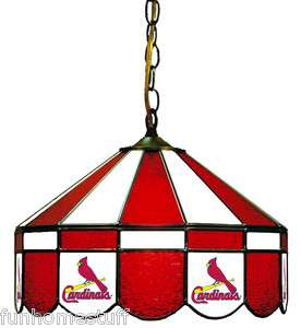 NFL ST LOUIS CARDINALS 16 STAINED GLASS HANGING GAME ROOM PUB LAMP