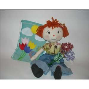 Sewing Pattern Rag Doll Lili and her Fabric Flowers and