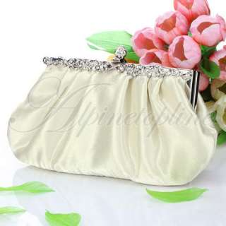 Satin Clutch Evening Wedding Cocktail Prom Party Bag Handbag #00565