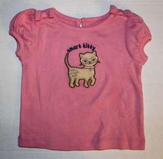 Gymboree Smart Kitties Kitty pink cat shirt top NWT