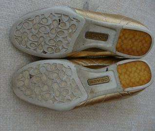 COACH GOLD FASHION SNEAKERSSIZE 8 OR 8½