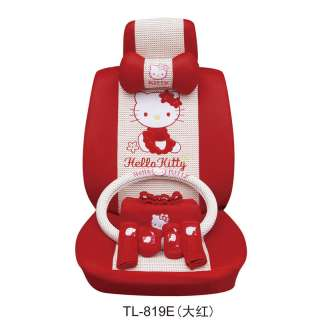 Hello Kitty Auto Car Seat Cover Cushion Set Red 19pc 24
