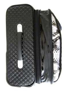 3Pc Luggage Set Travel Bag Rolling Wheel Gray Alligator