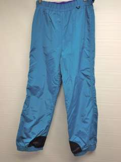 WOMEN*COLUMBIA* GREEN SKI/SNOW PANTS/ NYLON SHELL WATERPROOF INSULATED