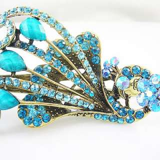 Turquoise Peacock Vintage fashion hair clip claw HC46A