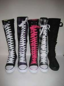 Canvas Lace Up Punk Emo Mid Calf Skate Sneaker Boot Sz