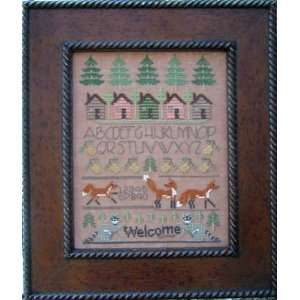 Woodland Sampler   Cross Stitch Pattern: Arts, Crafts