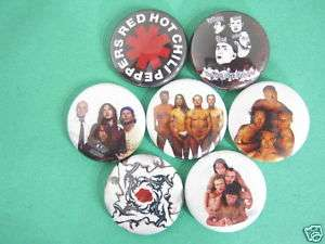 RED HOT CHILI PEPPERS SET OF 7 PINS BUTTONS BADGES NCL