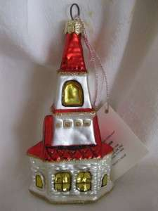Vintage CHURCH CHAPEL Wedding Marriage Christmas Ornament NEW