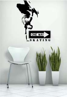 SKATER SKATEBOARD BOYS KID WALL ART BEDROOM VINYL DECAL