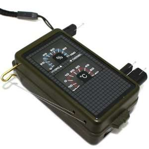 Outdoor Mini Survival Kit Including Thermometer, Hygrometer, LED Light