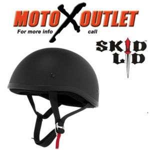 Skid Lid Motorcycle Helmet Original Flat Black Large