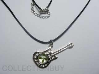 Lucky clover Four Leaf clover Guitar necklace pendant#3