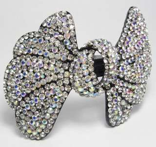 LG SEXY HAIR BARRETTE CLIP PONY HOLDER AUSTRIAN RHINESTONE CRYSTAL