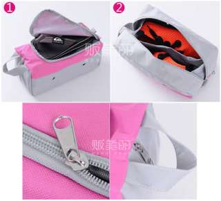 Pink Travel Shoe Tote Bag Case Carrier Holder Double Layer s03