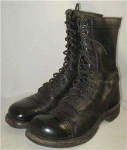 vintage mens Corcoran Military Jump Boots black leather sz 8 D