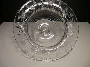 Pairpoint Colias #175 Footed Bowl Clear ABP Cut Crystal