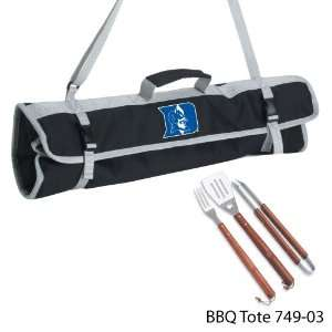 Duke University Printed 3 Piece BBQ Tote BBQ set Black